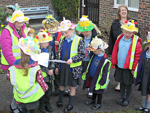 Witchampton First School's annual Easter bonnet parade