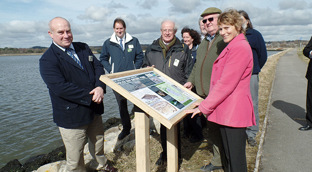 Unveiling of new Holes Bay information panels