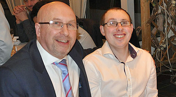 Jack Bassett (right) with his father Peter Bassett