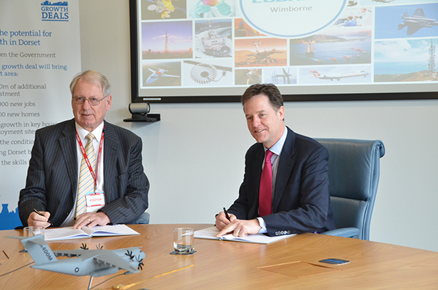 Dorset LEP Chairman Gordon Page, and Deputy Prime Minister Nick Clegg