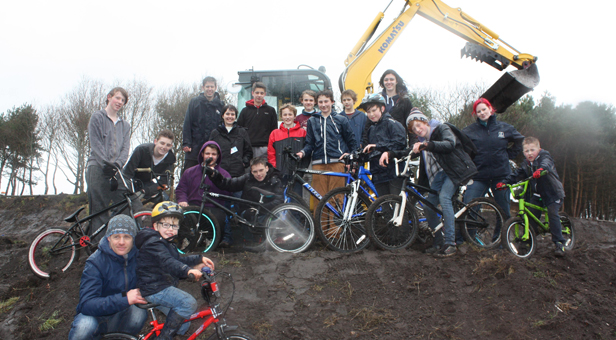 Young residents work together to reshape BMX area