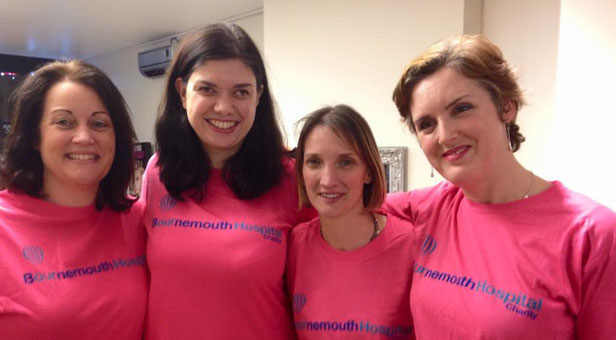 PHOTO: Great friends: BEFORE: L to R Emma Piper, Simone Penfold, Hayley Robinson, Rosy Taylor