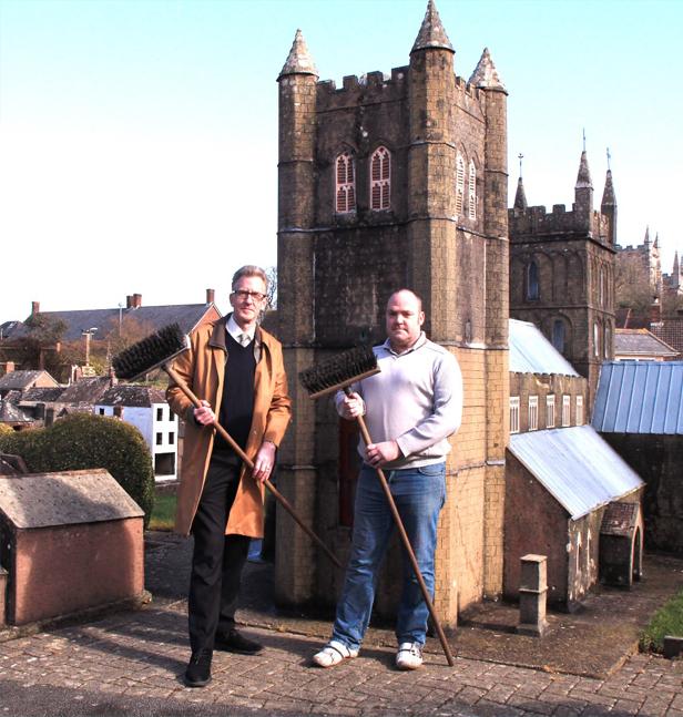 New Brooms: left Greg Hoar with Nick Clark