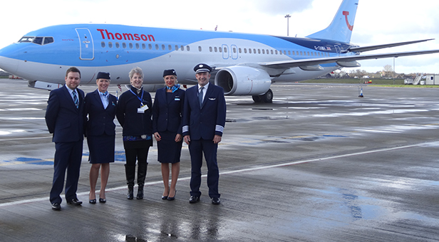 Thomson Airways Team with Andrea Piedot from Bournemouth Hospital Charity
