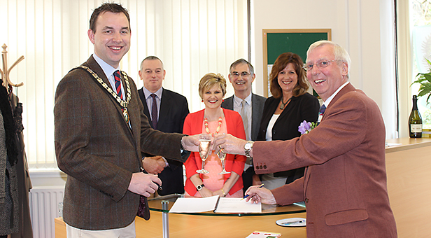 At the opening of the new Ferndown Town Council office