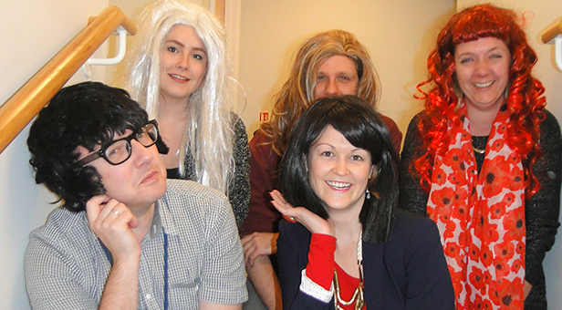 Lewis-Manning fundraising team get ready for Make A Wig day