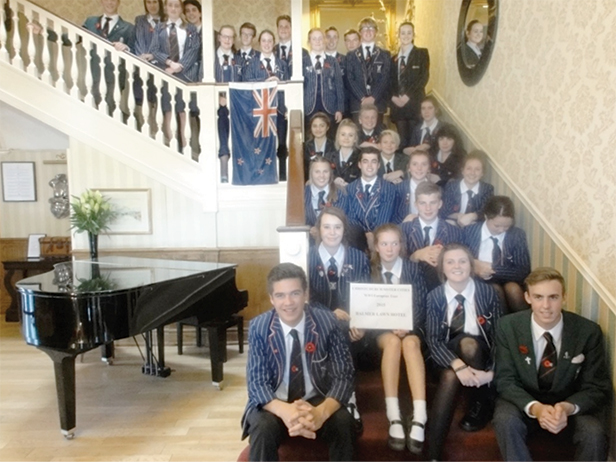 Twinned towns students - Anzac Day