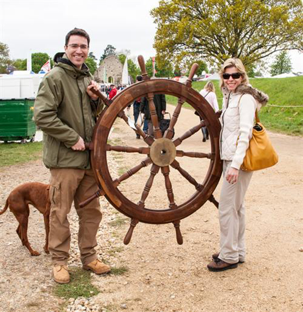 Couple pick up a bargain at Beaulieu Boat Jumble