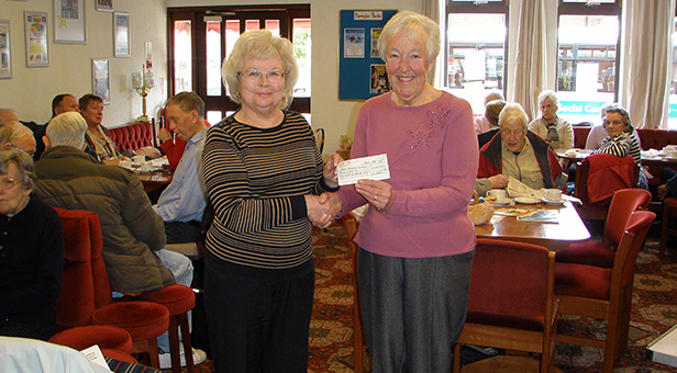 Cheque presentation to the East Dorset and New Forest Branch of the Motor Neurone Disease Association