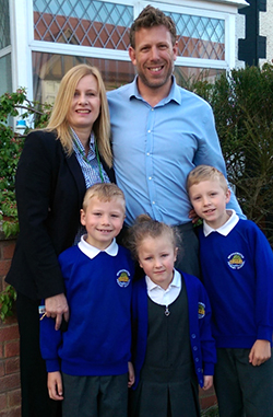 Philip Jones and his family