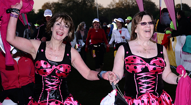 MoonWalk London 2012 Left to Right - Dee & Susan