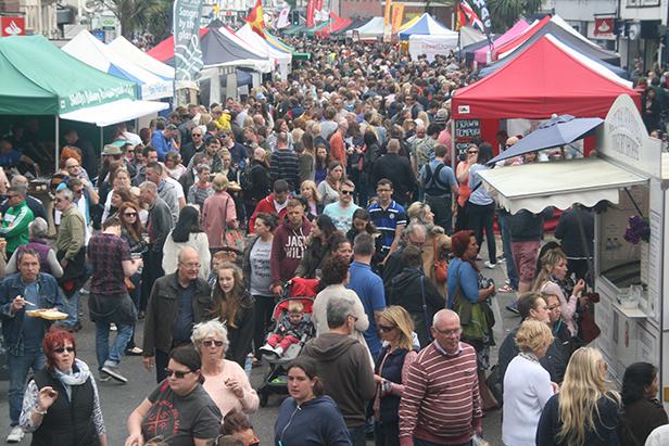 Christchurch Food Festival crowd