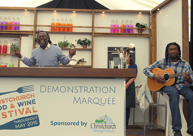 Levi Roots at Christchurch Food Festival 2015