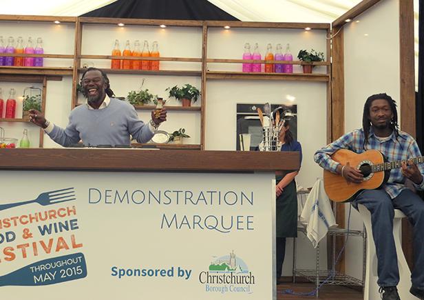 Levi Roots at Christchurch Food Festival 2015