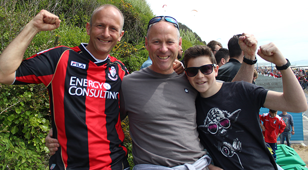 AFC Bournemouth fans at the bus parade