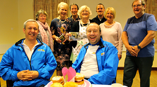 Matt Black and Jon Coxwith fundraisers at the tea party