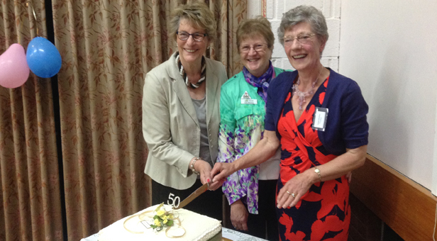 L - R June Austin, Linda Whatman (Dorset WI Chairman), Angela Hawkins (President Colehill WI)
