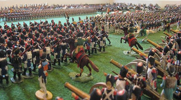 The Battle of Waterloo diorama