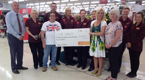 Sainsbury's Ferndown present cheque to LEAF
