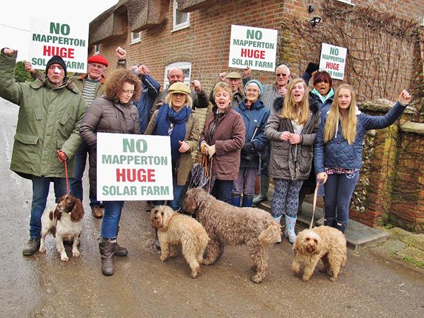 Mapperton Solar Farm protestors