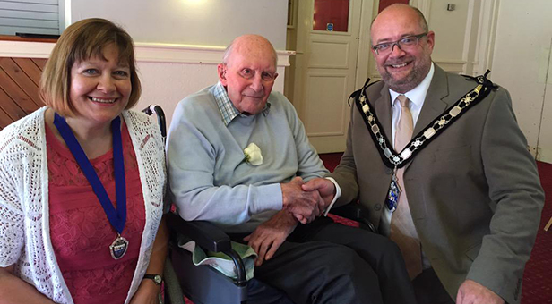 West Moors resident Richard Earnshaw has celebrates his 100th birthday