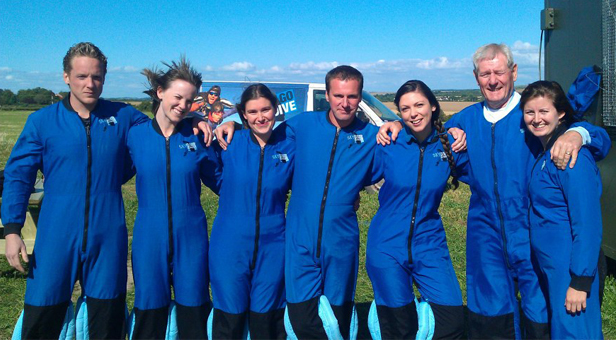 Dorset Blind Association free skydive