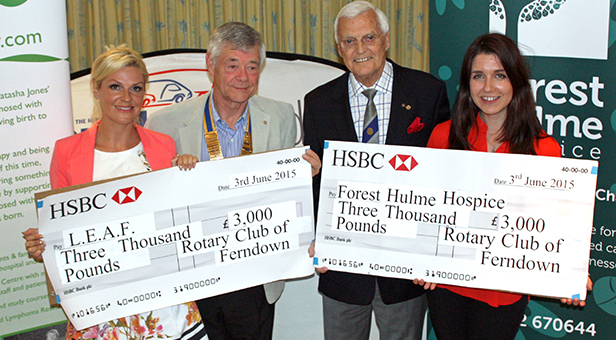 Ferndown Rotary Club cheque presentation