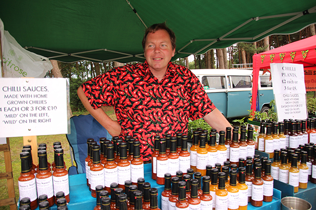 Chilli sauce stall at Christchurch Cheese & Chilli Festival