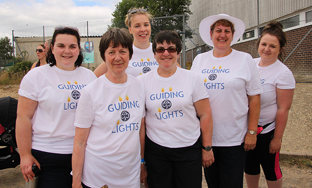 Guiding Lights (leaders from Verwood and Ferndown Guides)