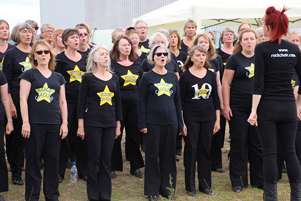 Bournemouth Rock Choir at Relay for Life