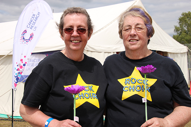 Survivors: Sally Grant and Pat Gossling at Relay for Life