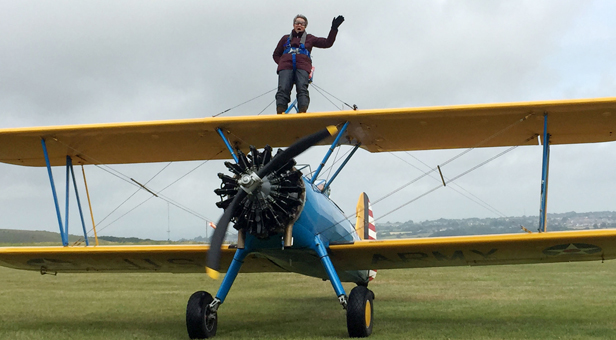 Joan Dampney wing walk