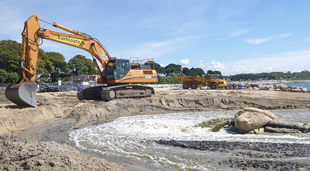 Beach recycling scheme in Christchurch