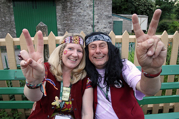Peace & Love at the Corfe Castle music train