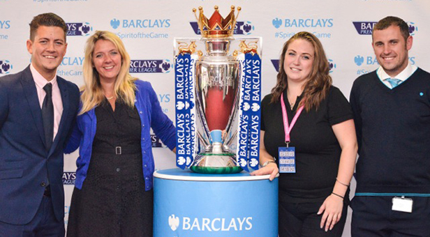 Premier League trophy in Bournemouth