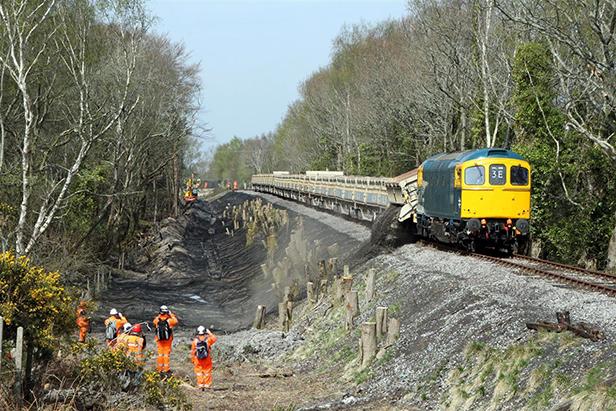 Swanage Railway ballast train