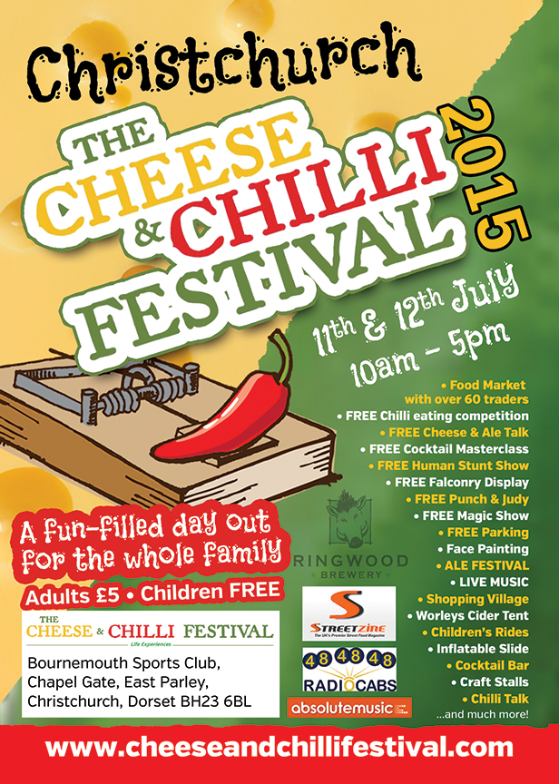 Christchurch Cheese & Chilli Festival flyer