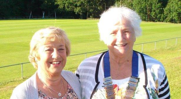 Mrs Sue Sismey (right) with founder president Sheila Smith
