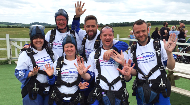 Group-of-Skydivers