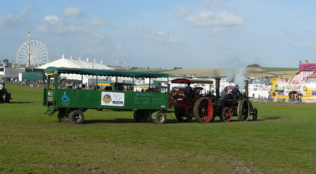 Great Dorset Steam Fair trailer ride