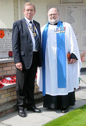 Branch Chairman Grant Parrott (left) with Chaplain Ralph Dodds