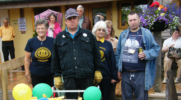 IW Ferndown members with Cherry Tree Nursery volunteers Ivan and Steve