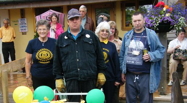 IW Ferndown members with Cherry Tree Nursery volunteers Ivan and Steve