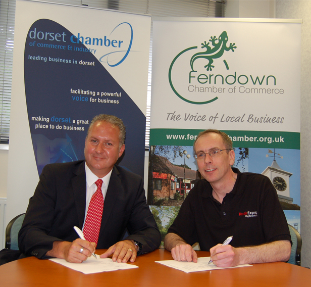 Ian Girling, Chief Executive, Dorset Chamber of Commerce & Industry and James Edgar, President, Ferndown Chamber of Commerce