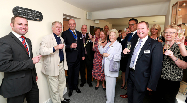 The new Lesley Shand Funeral Service premises was officially opened on East Street, Blandford Forum. Pictured (left to right) Mayor of Blandford Cllr Steve Hitchings, Reverend Stephen Coulter, manager Shane Watson, Lesley Shand, Simon Fisher of the National Association of Funeral Directors and MD of Douch Family Funeral Directors, Nick Douch.
