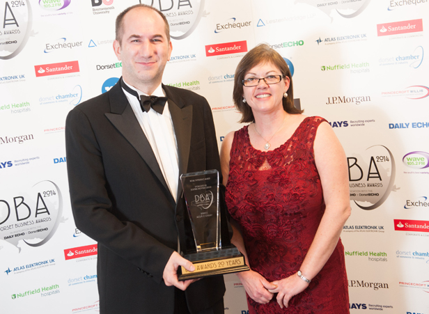Jason Allum of Allum & Sidaway with Lisa King from the Dolphin Shopping Centre