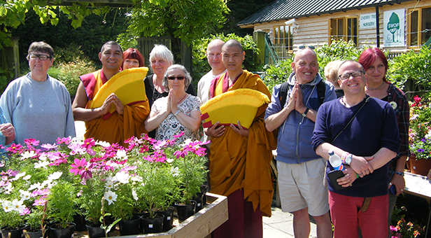 Tibetan monks at Cherry Tree Nursery