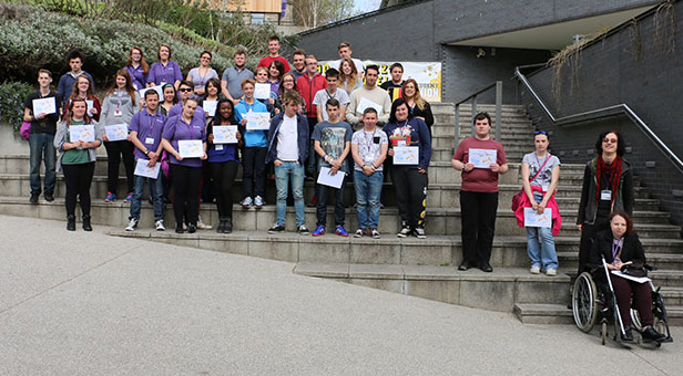 Young Carers from across Hampshire, who attended this year's Winchester University residential