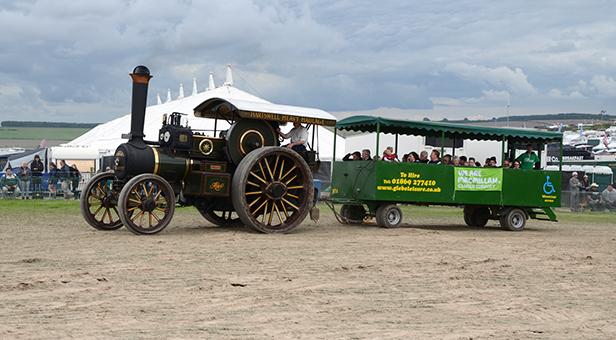 Great Dorset Steam Fair trailer ride