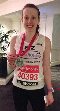 Felicity Hooper, Diverse Abilities, London Marathon 2016